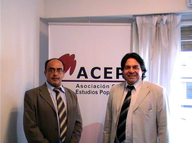 Guido Varas (ACEP La Rioja) y Rogelio Mallea (ACEP San Juan)