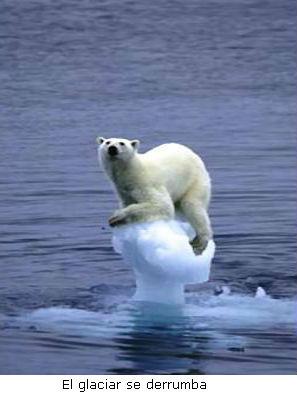 El glaciar se derrumba